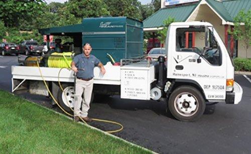 landscape spray truck