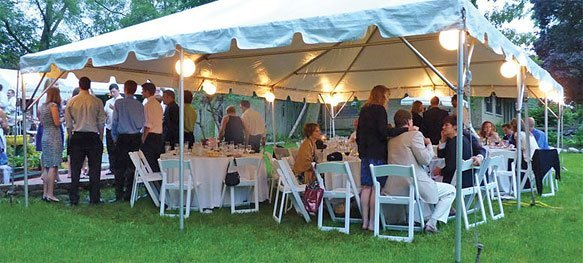 outdoor party under tent
